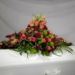 8. Höstlov, Orange liljor, Vinröd nejlika, Orangegula germini, Orange rosor, Texasgräs