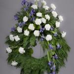 1. Vita nejlikor, Blå iris