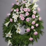 3. Rosa rosor, Vita liljor, Vita prärieklockor, Brudslöja, Texasgräs