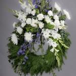 6. Vita gladiolus, Vita krysantemum, Stormhatt, Murgröna