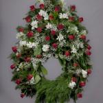 9. Röda rosor, Vit fresia, Brudslöja