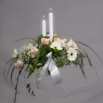 10. Ljusrosa rosor, Vita germini, Brudslöja, Olika grönt, Levande Ljus